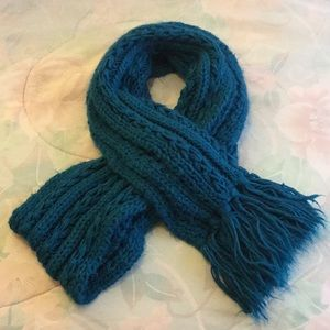 Forever 21 Teal Knitted Scarf